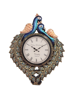 Hand Decorated Peacock Analog Wall Clock By RoyalsCart -  online shopping for Wall Clocks