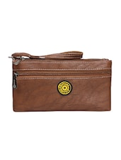 brown leatherette  regular purse -  online shopping for Purses