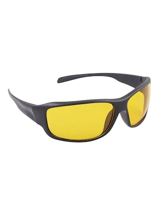 6a76a84b44 Buy Black Frame Yellow Shade Lense Night Vision Biker Sports Sunglasses by  Dervin - Online shopping for Men Sunglasses in India