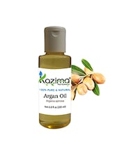 KAZIMA Argan Moroccan Cold Pressed Carrier (200ML) Pure Natural Used For Anti Hair Fall Control, Massage, Skin & Acne - By