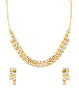 gold metal bridal necklace -  online shopping for Necklaces
