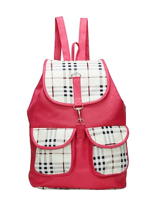 pink leatherette  backpack