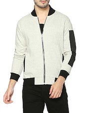 beige cotton casual jacket -  online shopping for Casual Jacket
