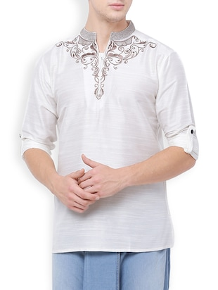 white rayon short kurta -  online shopping for Kurtas
