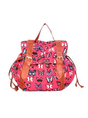 pink cotton fashion backpack