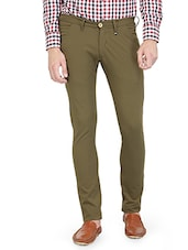 green cotton chinos -  online shopping for Casual Trousers