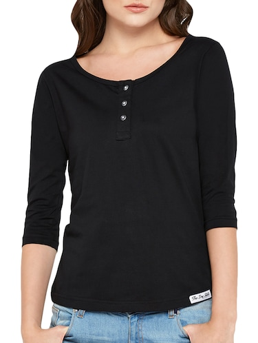 f2d87499842 Black t shirt - Buy Black t shirt Online at Best Prices in India -  LimeRoad.com