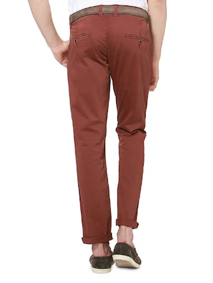 red cotton chinos casual trousers - 14237987 - Standard Image - 2