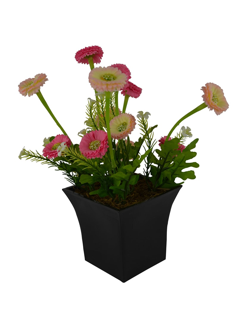 Buy Artificial Flower Mini Daisy With Square Long Pot By The Fancy