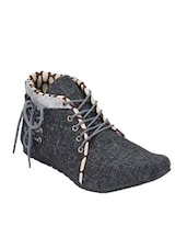 black Jute low ankle boot -  online shopping for Boots