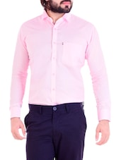 pink cotton formal shirt -  online shopping for formal shirts