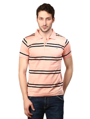 pink cotton collared tshirt