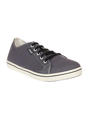 grey Canvas lace up sneaker