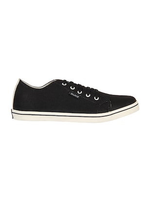black Canvas lace up sneaker - 14292625 - Standard Image - 2