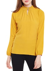 yellow crepe regular top -  online shopping for Tops