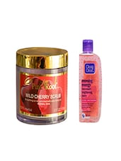 Pink Root Wild Cherry Scrub (100gm) With Clean & Clear Morning Energy Face Wash Brightening Berry (100ml) Pack Of 2 - By