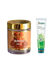 Pink Root Almond Scrub (100gm) With Himalaya Purifying Neem Face Wash (100ml) Pack Of 2 - By