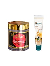 Pink Root English Rose Exfoliating Gel Scrub (100gm) With Himalaya Clarifying Fairness Face Wash (100ml) Pack Of 2 - By