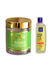 Pink Root Tea Tree Skin Clearing Clay Mask (100gm) With Clean & Clear Morning Energy Face Wash Energizing Lemon Pack Of 2 - By