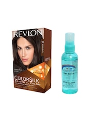 Pink Root Hair Serum (100ml) With Revlon Colorsilk Hair Color With 3D Color Technology Brown Black 20 Pack Of 2 - By
