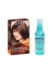 Pink Root Hair Serum (100ml) With Revlon Colorsilk Hair Color With 3D Color Technology Medium Brown 41 Pack Of 2 - By