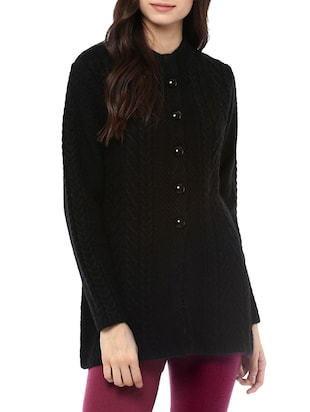 black woollen cardigan -  online shopping for Cardigans