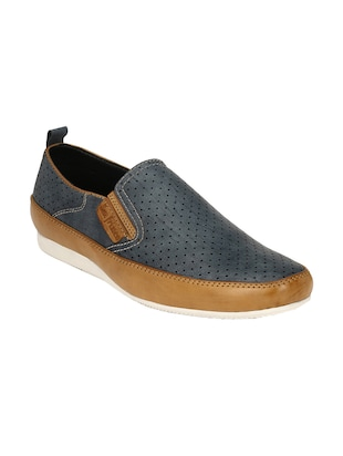 blue Leather casual slipon
