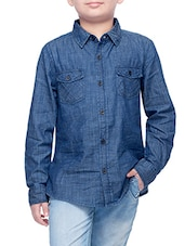 blue cotton shirt -  online shopping for shirts