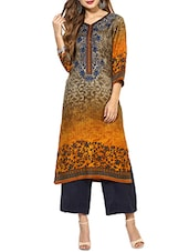 mustard straight woolen kurta -  online shopping for Woolen kurtas