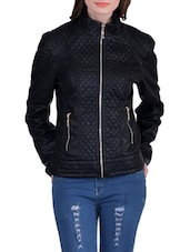 black leatherette jacket -  online shopping for jackets