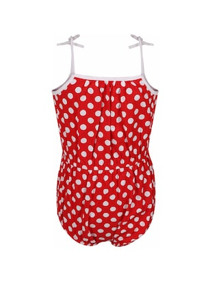 red cotton playsuit - 14336016 - Standard Image - 2