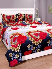 Home Desires Polyester Cotton Bedsheet With 2 Pillow Covers -  online shopping for bed sheet sets