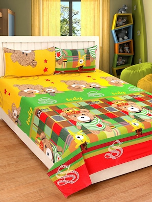 100% Cotton Double Bed sheets With 2 Pillow Covers