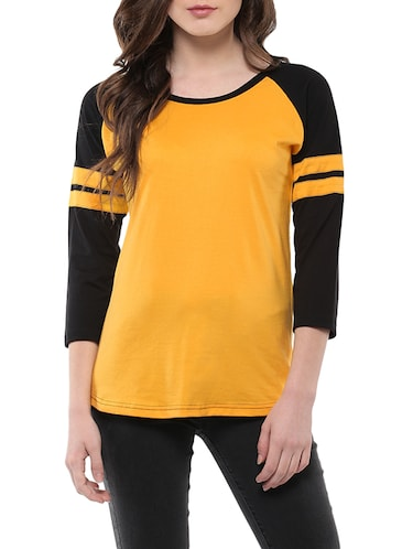 49bca74a Buy yellow colour tops for women western in India @ Limeroad