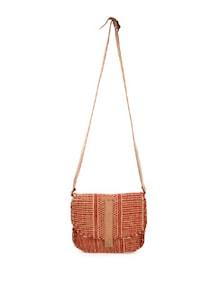Brown And Red Jute Saddle Bag - The House Of Tara
