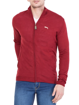 red acrylic pullover -  online shopping for Pullovers