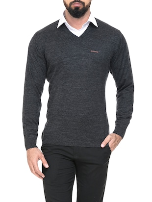 grey wool pullover