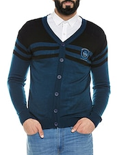 blue polyester cardigan -  online shopping for Cardigans