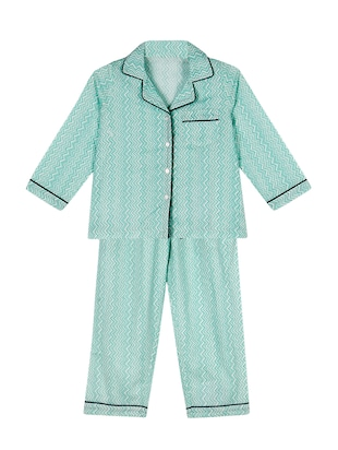 blue cotton pyjama set nightwear -  online shopping for nightwear