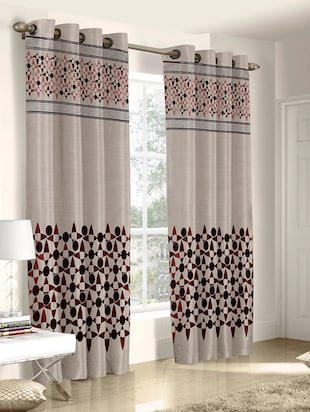 Polyester Printed Set of 4 Door Curtain