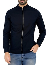 navy blue cotton bomber jacket -  online shopping for Bomber Jackets