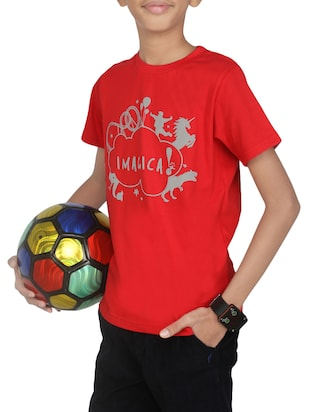 red cotton tshirt - 14387461 - Standard Image - 2