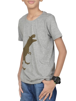 grey cotton t-shirt - 14387464 - Standard Image - 2