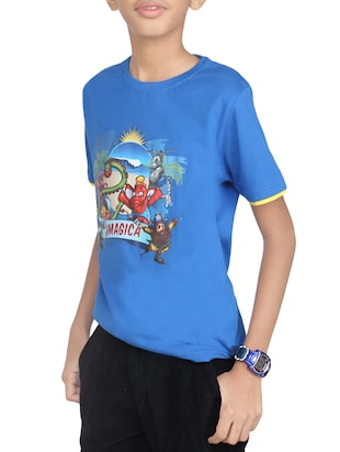 light blue cotton tshirt - 14387538 - Standard Image - 2