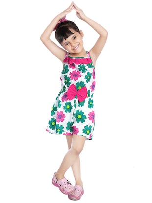 green cotton playsuit - 14387635 - Standard Image - 2