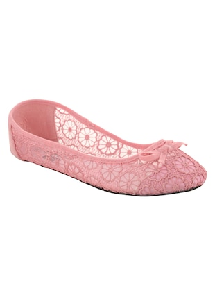 pink fabric flat -  online shopping for flats
