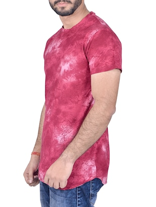 pink cotton all over print tshirt - 14404670 - Standard Image - 2