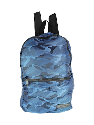 blue polyester fashion backpack
