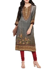 grey straight woolen kurta -  online shopping for Woolen kurtas
