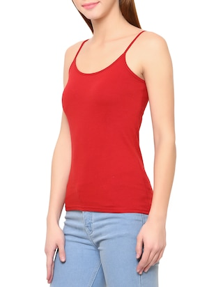 Red cotton camisole - 14413972 - Standard Image - 2